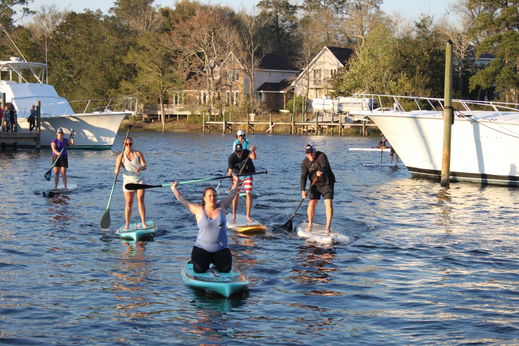 Thursday Throw Down Paddle Board Racers on the water