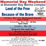 Advertising jpg showing list of Memorial Day Weekend Events