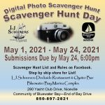 Scavenger Hunt Day Advertisement with Dates and Contact information