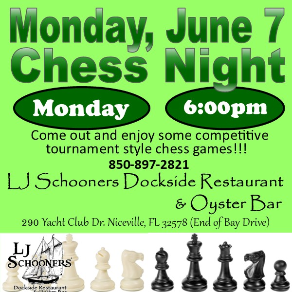 Chess Night, Monday, June 7th