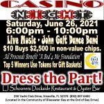 Casino Night Information Flyer