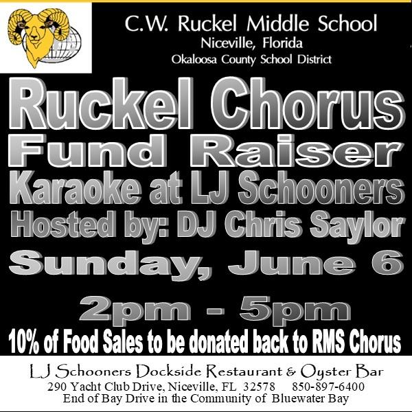 Ruckel Chorus Fund Raiser info , Sunday, June 6,2pm - 5pm