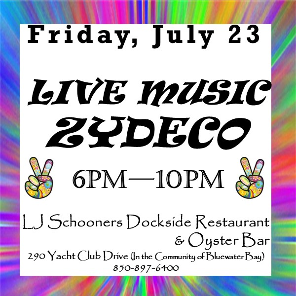 Advertising square for Live Music with ZYDECO