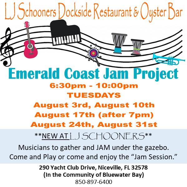 Emerald Coast Jam Project information square