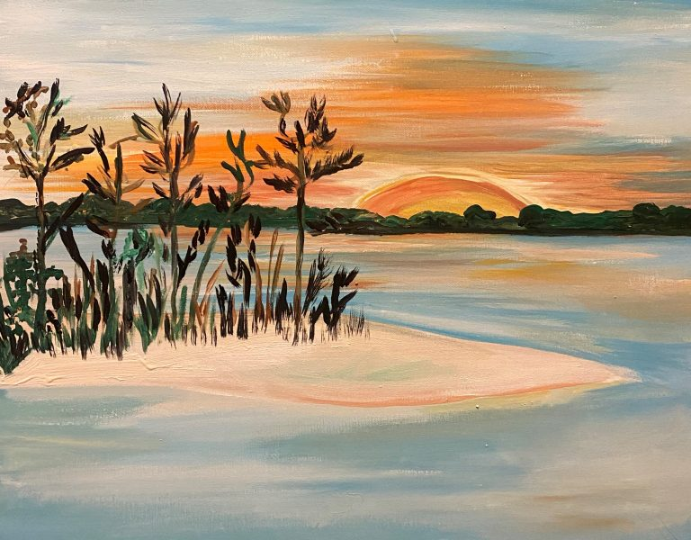 Painting of Tater Tot Island Beach