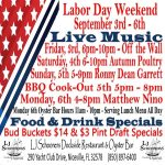 Labor Day Weekend Music Poster