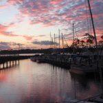 Sunset at Bluewater Bay Marina
